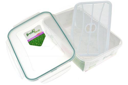 Plastový box s mřížkou a silikonovým těsněním PLAST ART 2.5l - 8696219359002