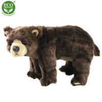 Plyšový medvěd hnědý stojící 40 cm ECO-FRIENDLY (8590687272620)