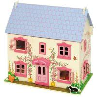 Bigjigs Toys Růžový domek pro panenky (691621261019)