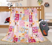 VERATEX Dětská deka růžový patchwork 100x155 cm*