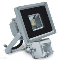 GTV  LD-FLS10W-64 LED reflektor 10W, 6400K s čidlem, šedý