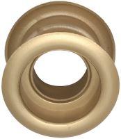 Mřížka plastová dveřní kruhová vnitřní průměr 40 mm zlatá satina