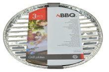 Grilovací hliníkové tácky BBQ - Set 3ks (35cm) - 8719202360899