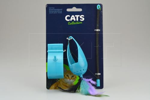 Závěsná hračka na šňůrce s pírkama CATS (9cm) - 8719202983180