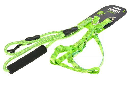 Kšíry s vodítkem DOGS 7kg - Zelené - 8719202636574