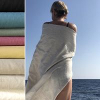 Aesthetic Lněný ručník - 100% len - gramáž 245g/m2 - MIX barev a velikostí Rozměr: 95x150 cm, Barva: Black