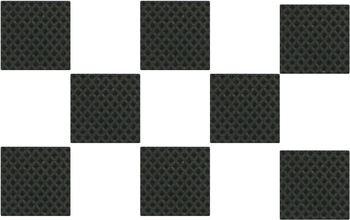 Protiskluzové podložky 30x30 černá 8ks