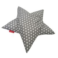 Aesthetic Polštář Hvězda - hvězdička bílá na šedé
