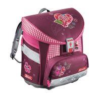 lehká školní taška tweedy srdce