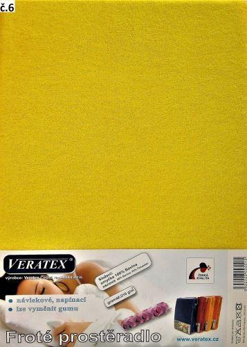 VERATEX Froté prostěradlo postýlka 60x120 cm (č. 6-stř.žlutá)