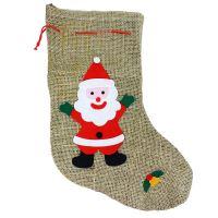 Punčocha Santa Claus / Mikulášská režná s dekorem (8590687354944)