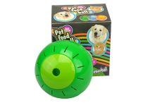 Plastový míček s otvory na krmení - Zelený (12,5cm) - 8711295241239