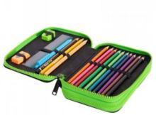 Školní pouzdro na tužku Coolpack, dvojitý svetr pro mládež s pixelem vybavení