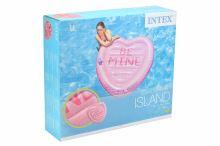 Nafukovací lehátko INTEX 58789 - Srdce s otvorem na pití (145x142cm) - 6941057413464
