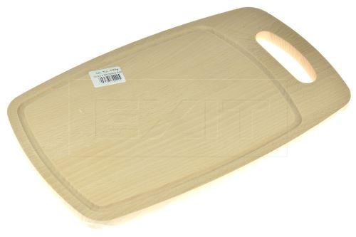 Oválné dřevěné krájecí prkénko s dírou (36x21cm) - 5907595744225