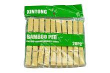 Bambusové kolíčky na prádlo (20ks) - 5908246790042