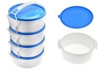 Plastový jídlonosič 4 dílný 4x1,1l - Modrý (27cm) - 5995875002943