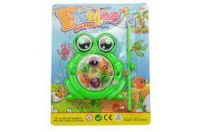 Dětská hra šikovný rybář GAZELO žabička - Zelená (10cm) - 5907773982876