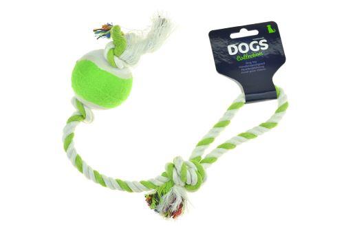 Provaz s tenisákem DOGS (40cm) - Zelený - 8711295008351