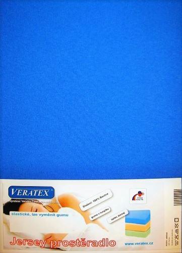 VERATEX Jersey prostěradlo 90x220 cm (č. 3-tm.modrá)