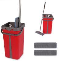 Cenocco CC-9077: Plochý mop s kbelíkem červený