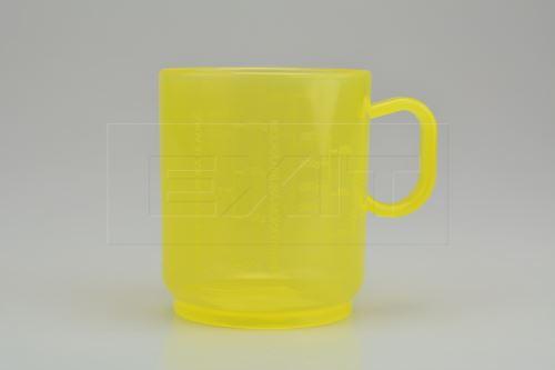 Žlutá plastová odměrka  - TVAR  - 8590394056803