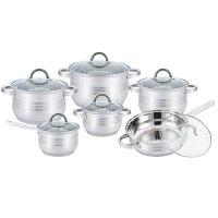 Kitchen Pro Plus KP-1251: Sada kuchyňského nádobí z nerezové oceli, 12 kusů