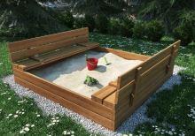 Dřevěné pískovište 120x120cm