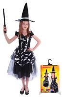Dětský kostým netopýrka čarodějnice/Halloween (S) (8590687141087)