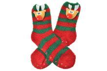 Teplé ponožky s protiskluzovou podrážkou