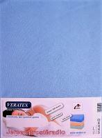 VERATEX Jersey prostěradlo 100x220 (č.21-sv.modrá)