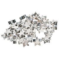 BKS DECOR Dekorační hvězdy v boxu, 48 ks, světlá, 2,5x2,5x1,, 331033