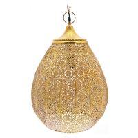 BKS DECOR Lustr Hizo zlatý s plným vrchem, 40x40x50 cm, kov, 126155